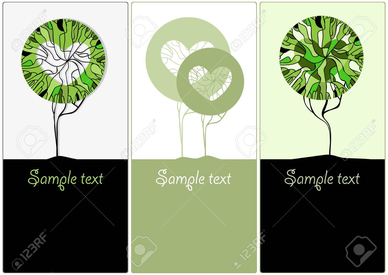 Stylized green trees for design  Vector illustration Stock Vector - 12486665
