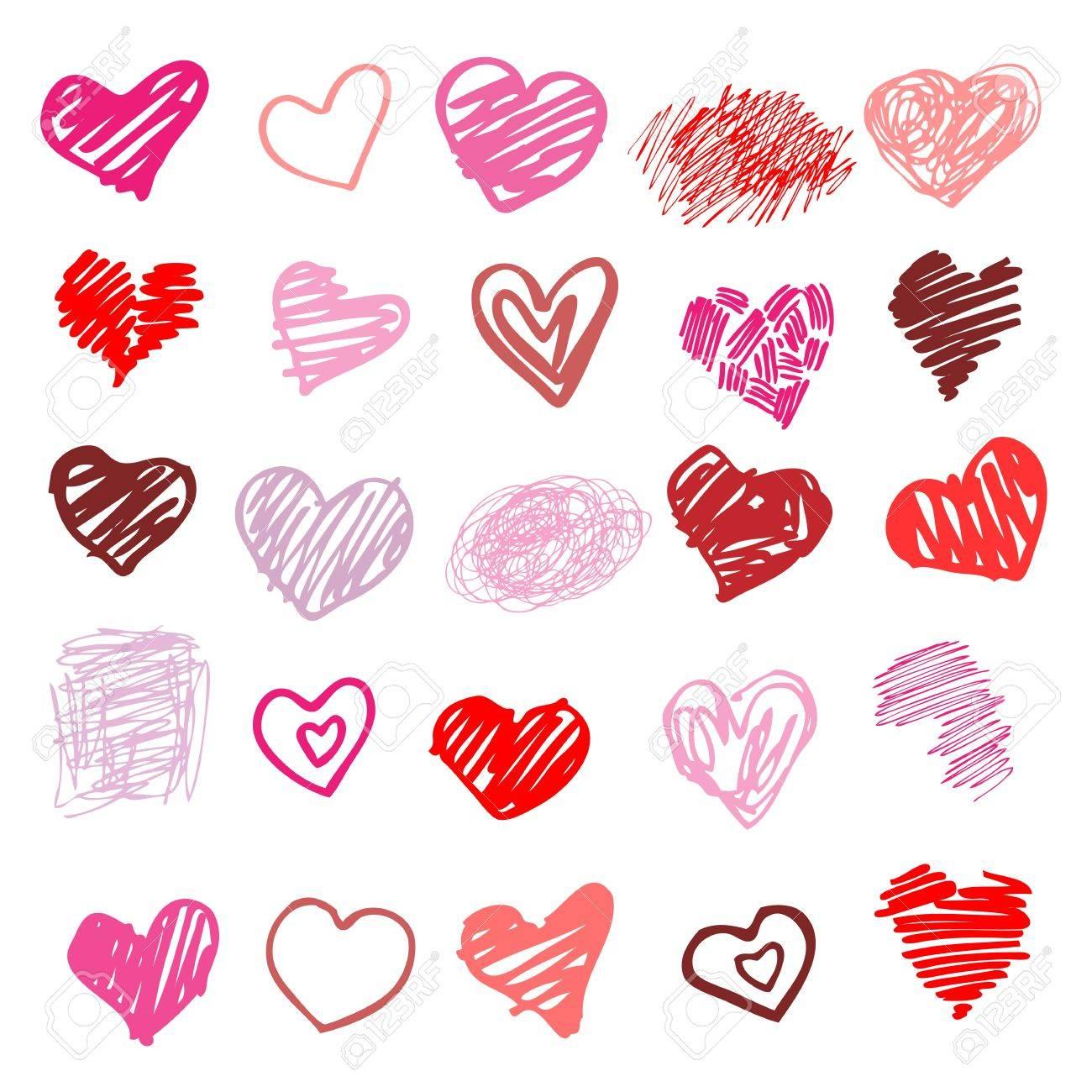 Heart  Set of design elements    illustration Stock Vector - 16407168