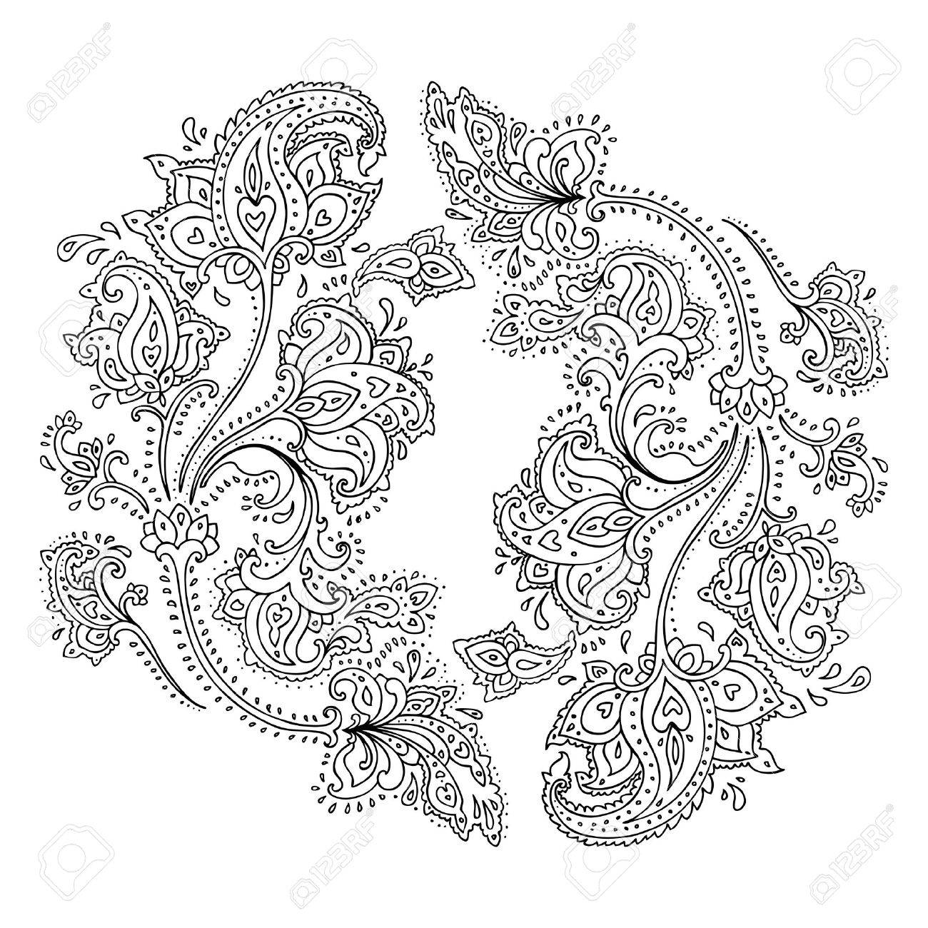 Paisley  Ethnic ornament   Vector illustration isolated Stock Vector - 18516062