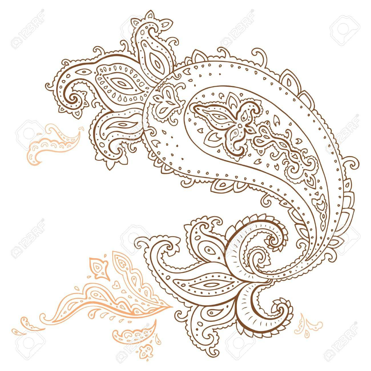 Paisley  Ethnic ornament illustration isolated Stock Vector - 18761386