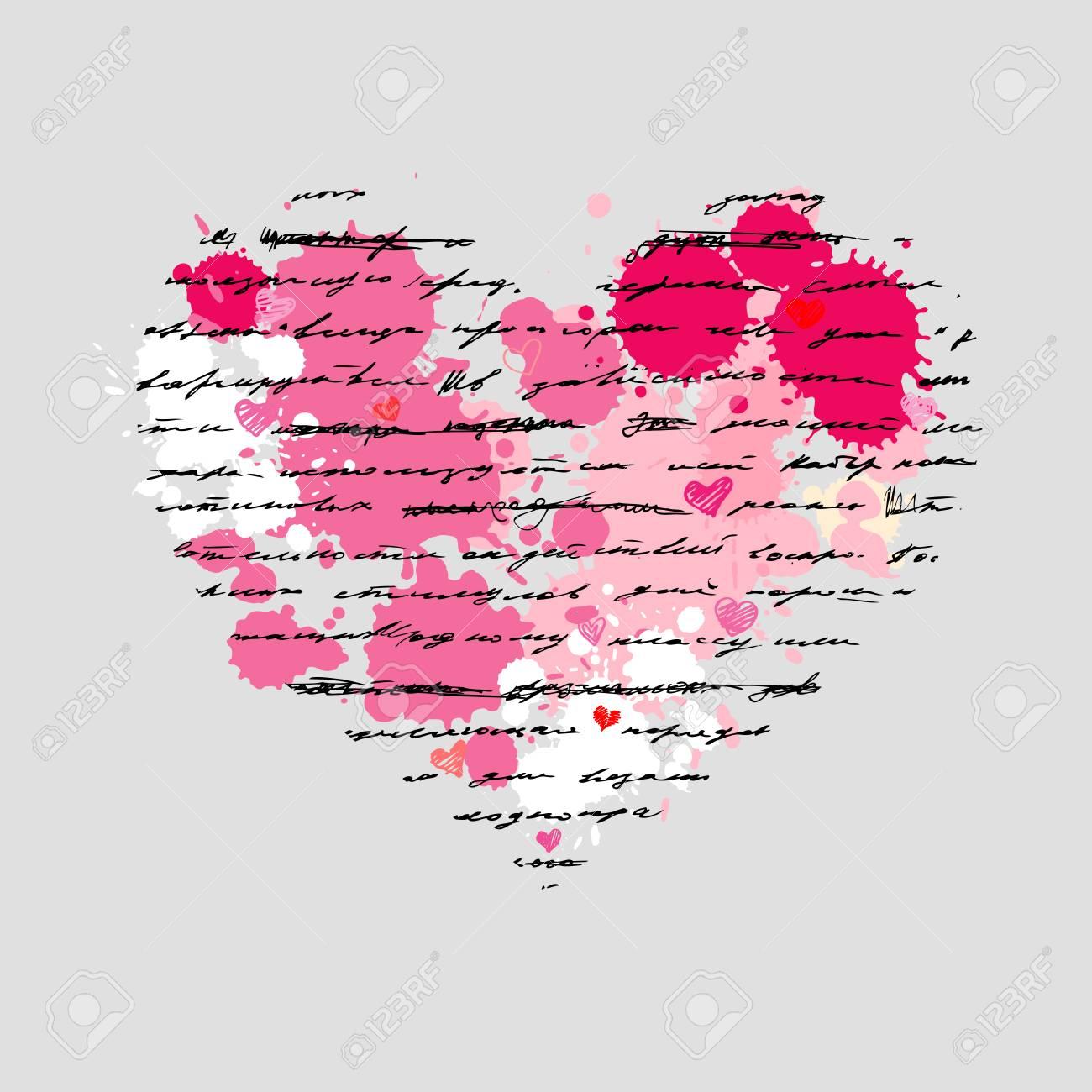 Heart design elements. Love. Handwriting vector background. Stock Vector - 23839282