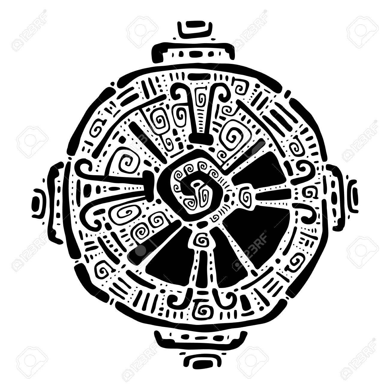 Hunab Ku Mayan symbol. Hand Drawn detailed pattern. - 42793707