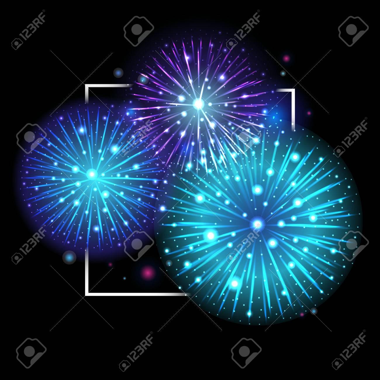 Fuegos Artificiales Festivos Cielo Nocturno Fiestas Fondo