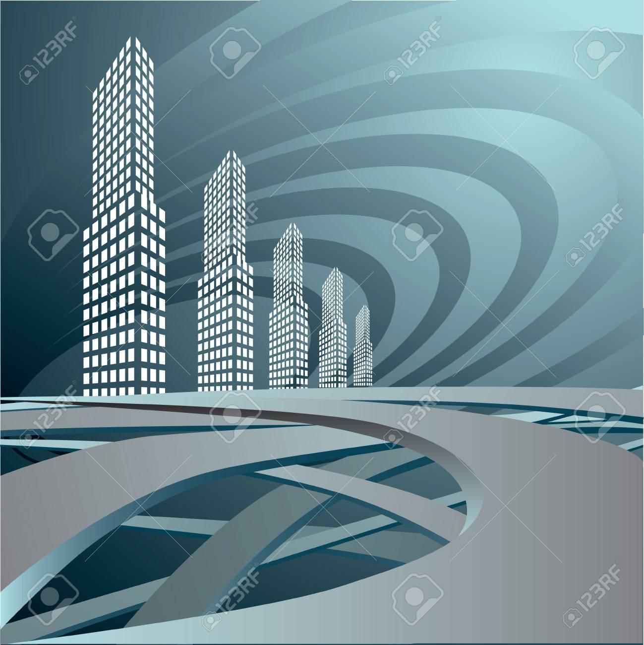 The city landscape. Stock Vector - 6605689