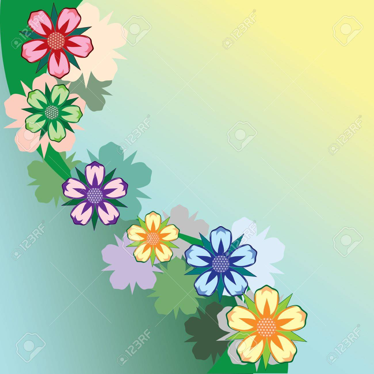 Abstract floral background. Stock Vector - 6644250