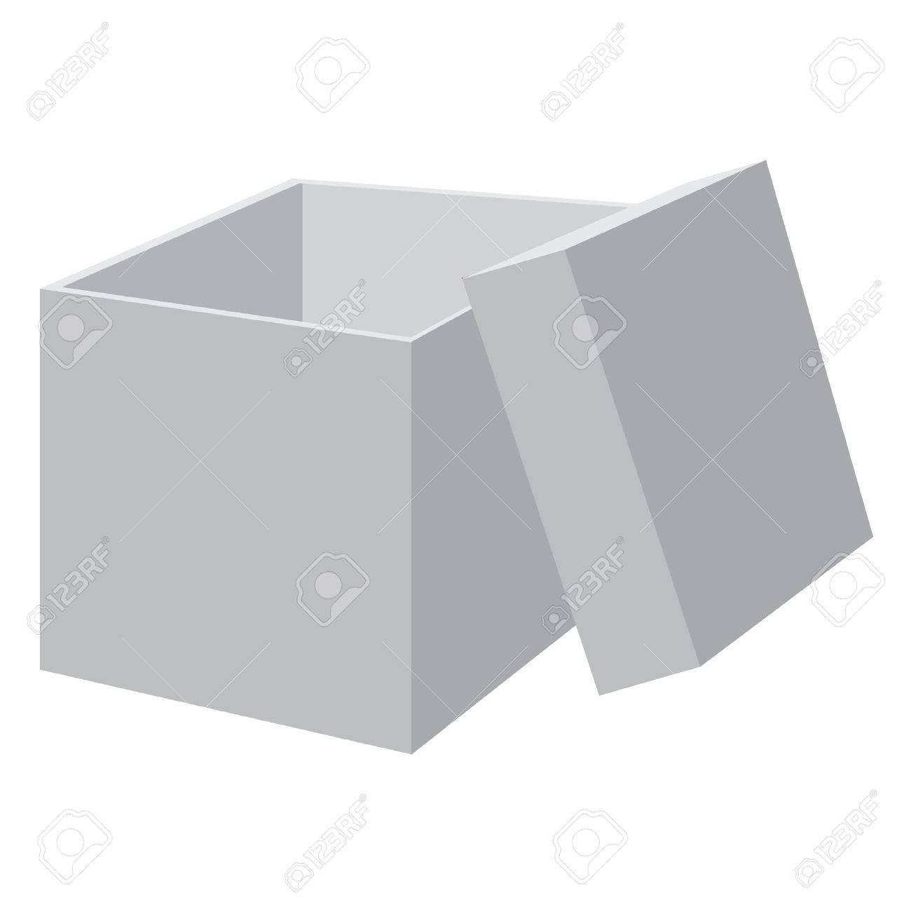White blank open box. Vector illustration. Stock Vector - 9225087