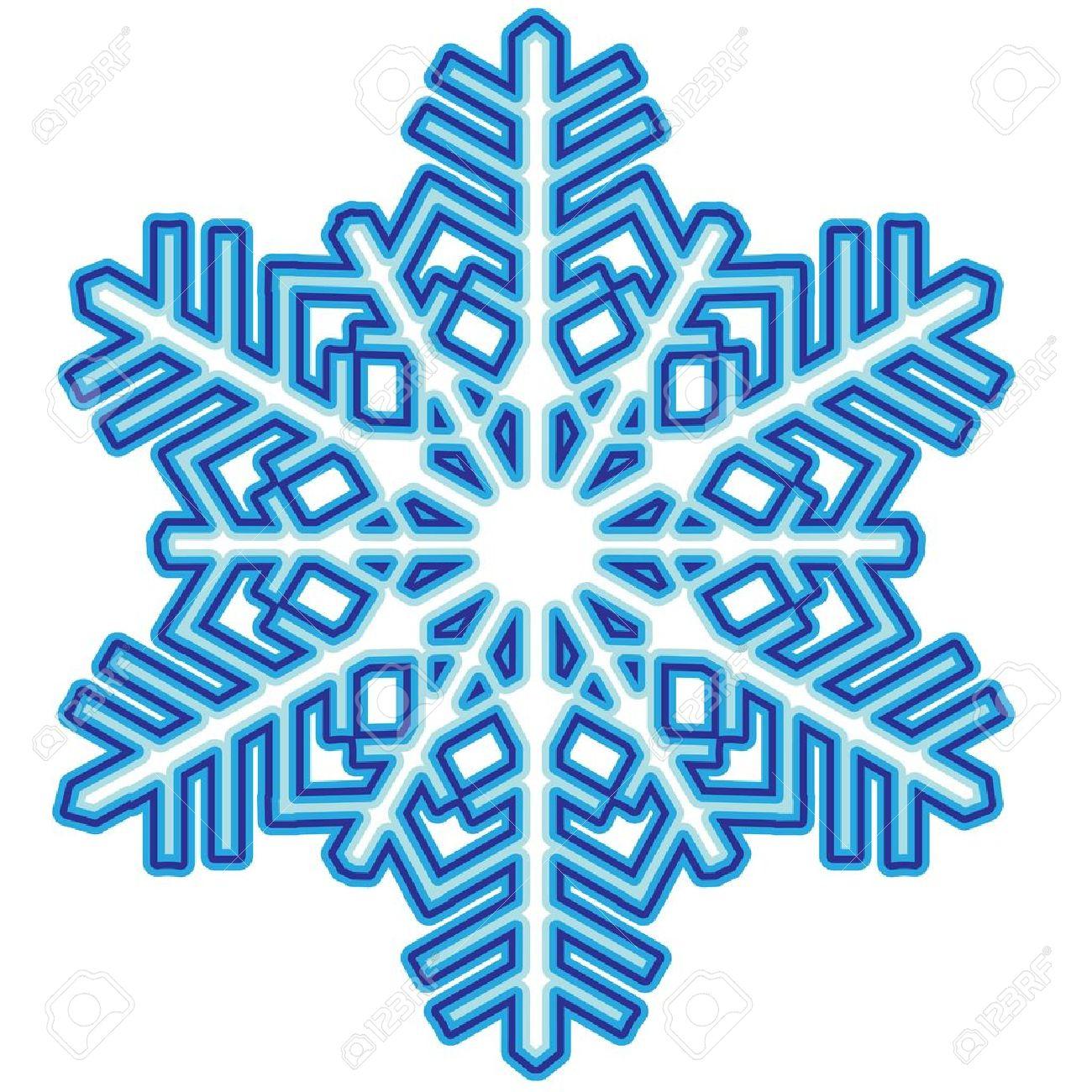 Decorative abstract snowflake Stock Vector - 14815403