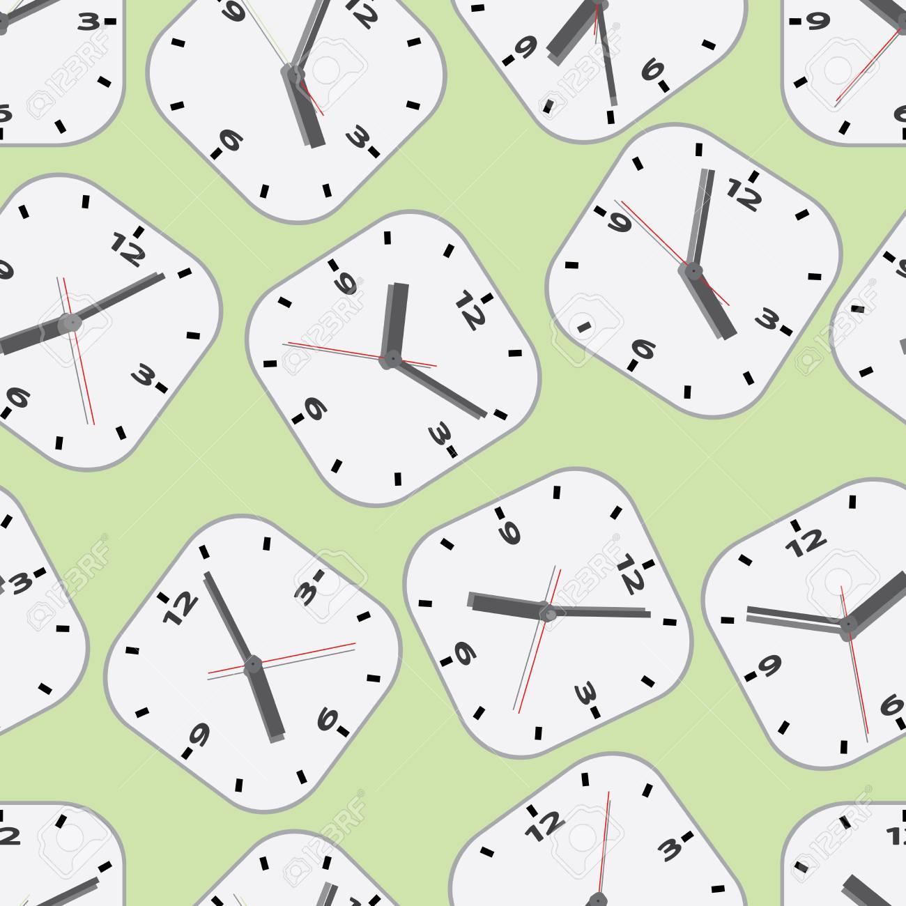 Wall clock  Seamless Stock Vector - 18412520