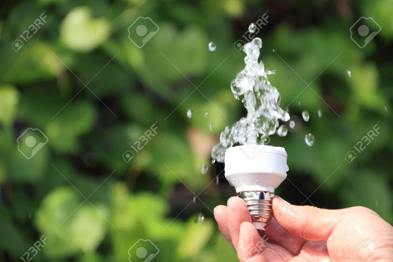 Ecological concept symbolizing renewable energy, hydropower Stock Photo - 9728426