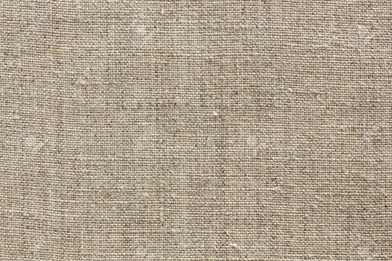 Brown Natural Linen Texture For The Background Stock Photo