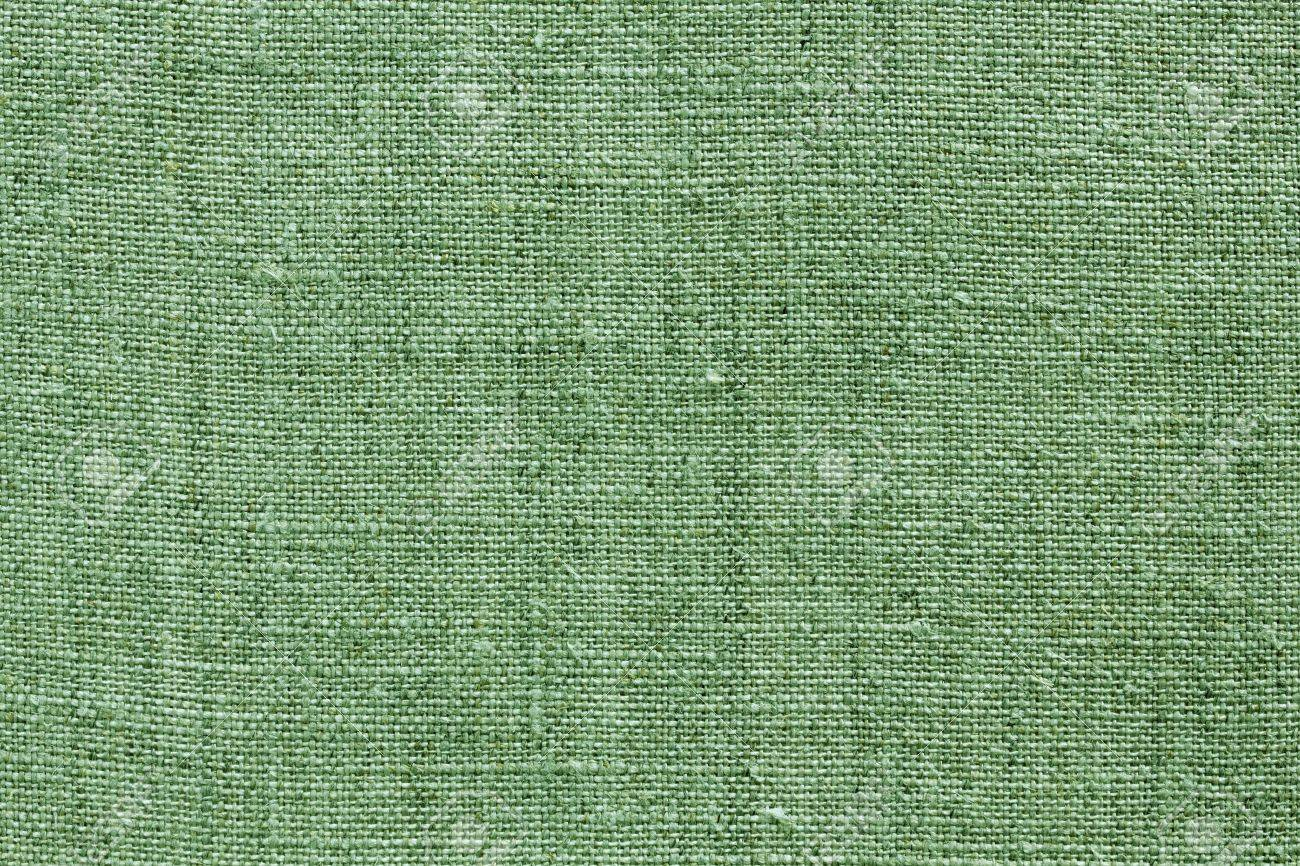green natural linen texture for the background Stock Photo - 13514032