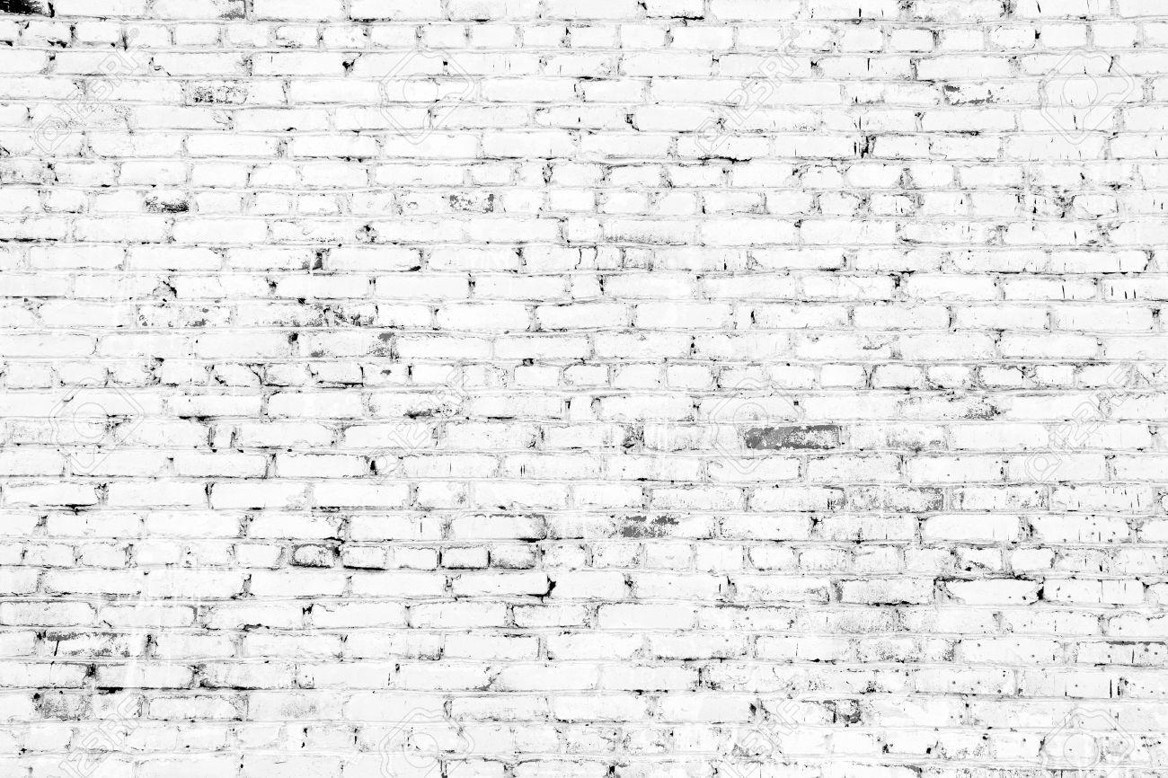 White Brick Wall Part - 30: Old Brick Wall With White Bricks Stock Photo - 18086923