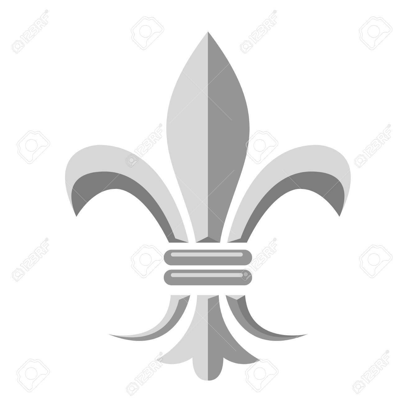 Fleur De Lis Heraldic Symbol Of French Royal Monarchy Royalty Free