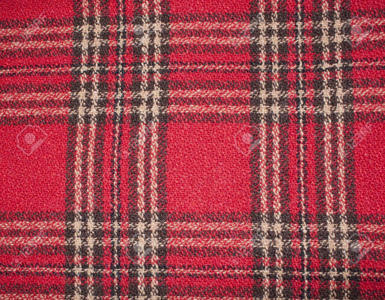 plaid fabric red orange black white stock photo picture and