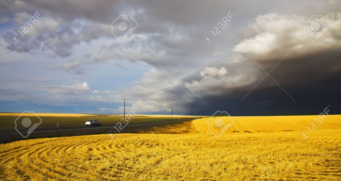 The thunder-storm in a countryside in state of Montana begins Stock Photo - 3827809