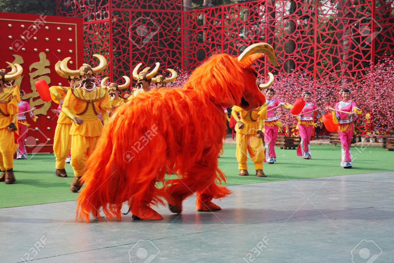 Chinese New Year Rede Des Tanzensemble In Den Ursprünglichen ...
