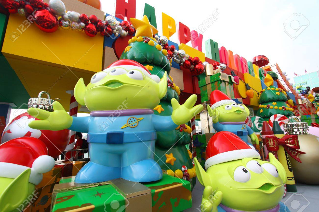 Toy Story Christmas Ornaments.Hong Kong 13 Nov Toy Story Christmas Decorations Release In