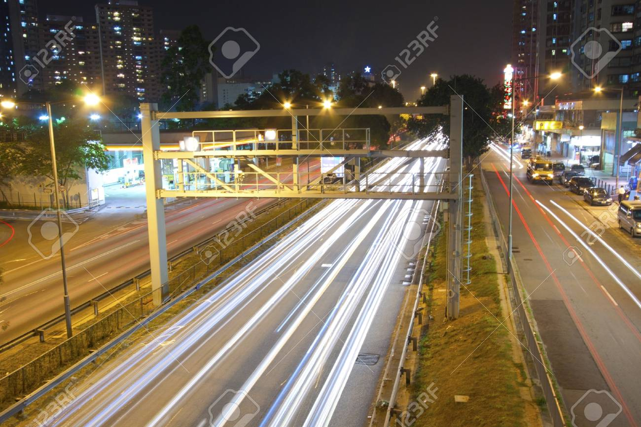 Traffic in city at night Stock Photo - 11701084