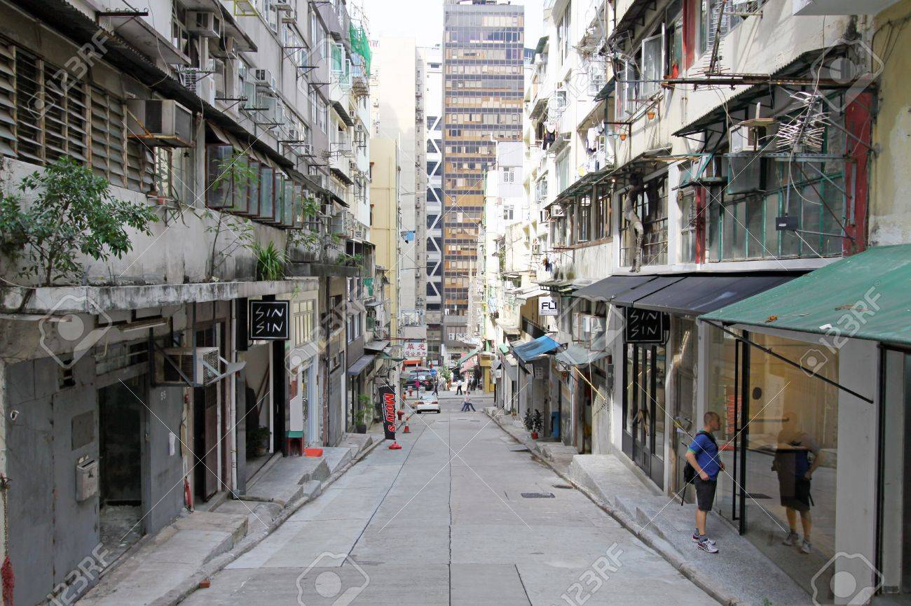 HONG KONG - OCT 9, An old street with modern buildings in the front in Central, Hong Kong on 9 October, 2010.  Stock Photo - 12689668