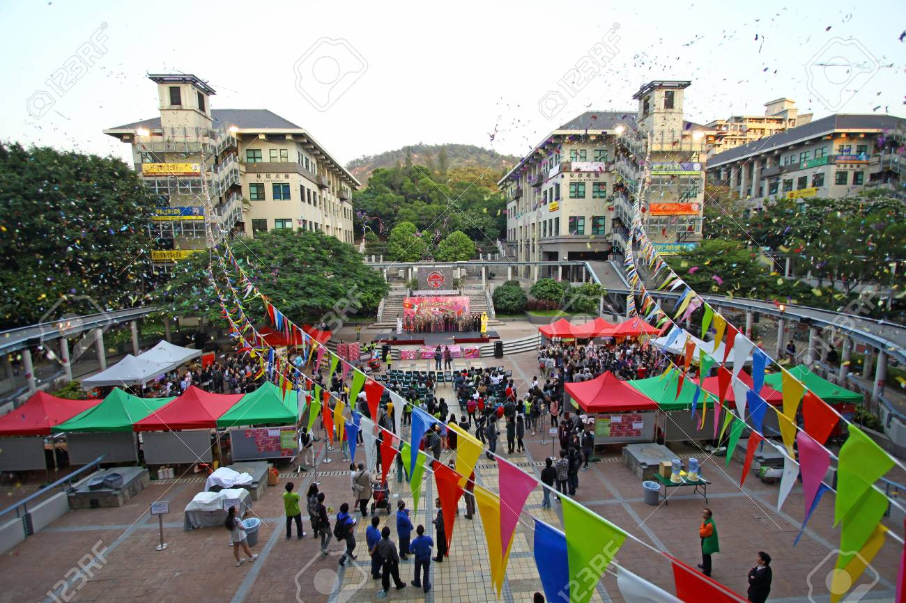 HONG KONG - OCT 27, International Day helds on Lingnan University in Hong Kong on 27 October, 2010. It is an annual event. Stock Photo - 12689709