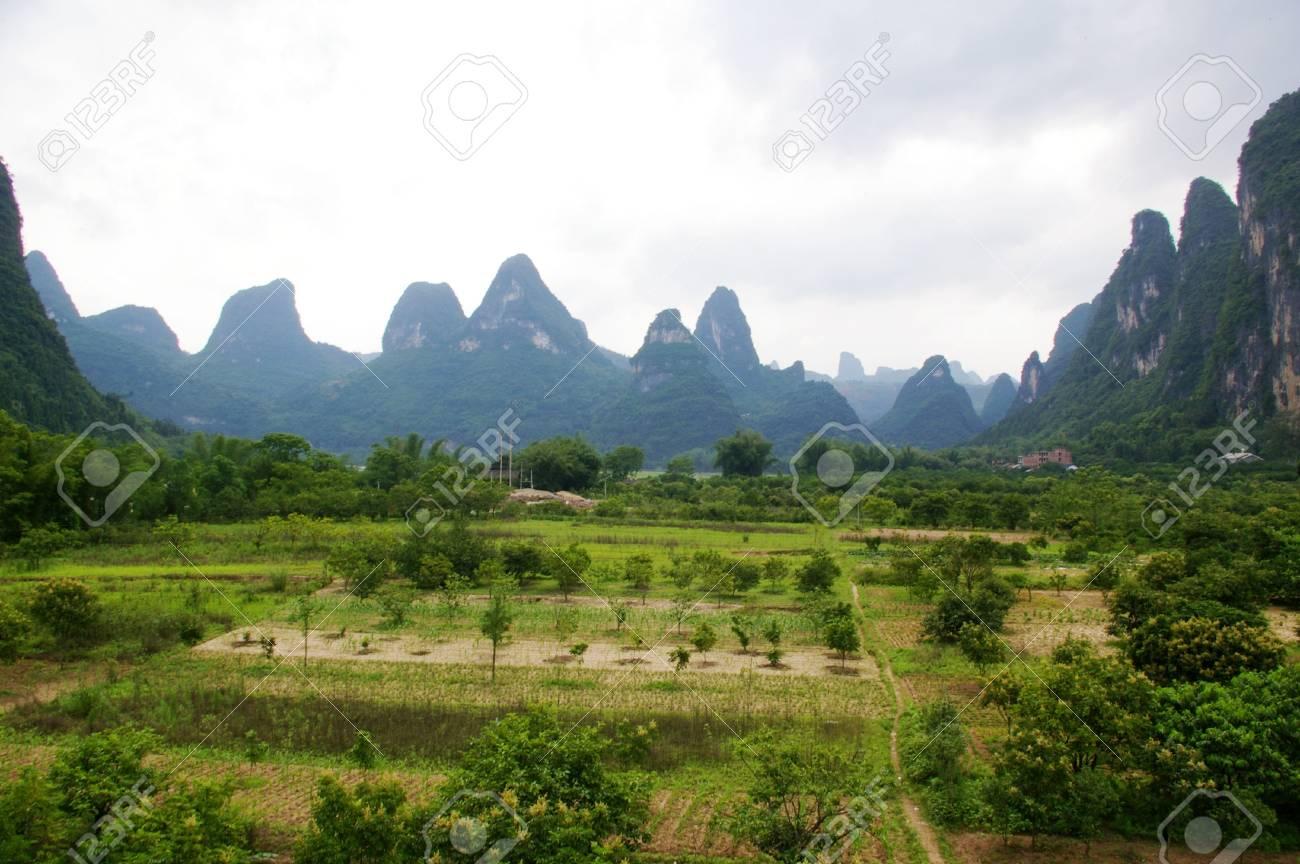 Beautiful mountain landscape in China Stock Photo - 12972937