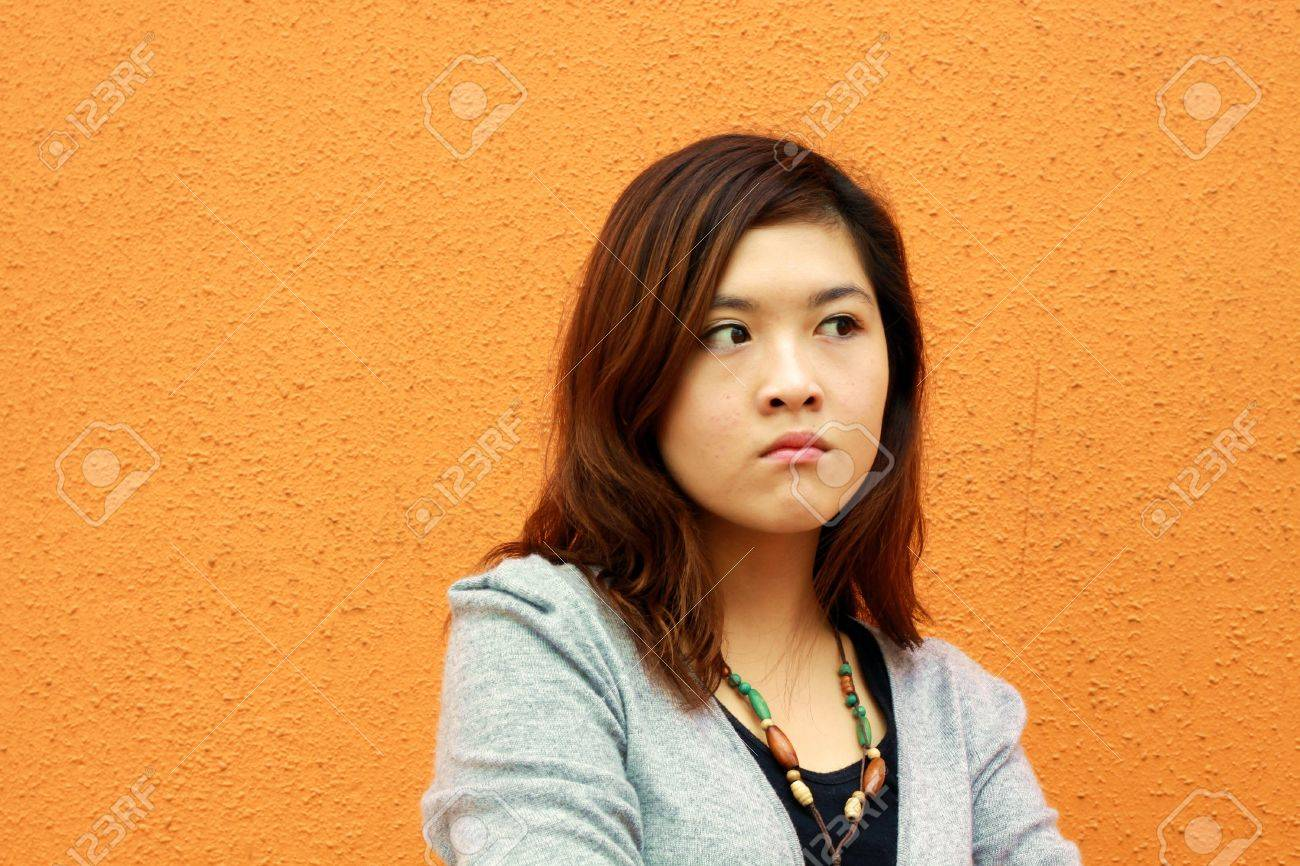 Angry asian woman Stock Photo - 13220508