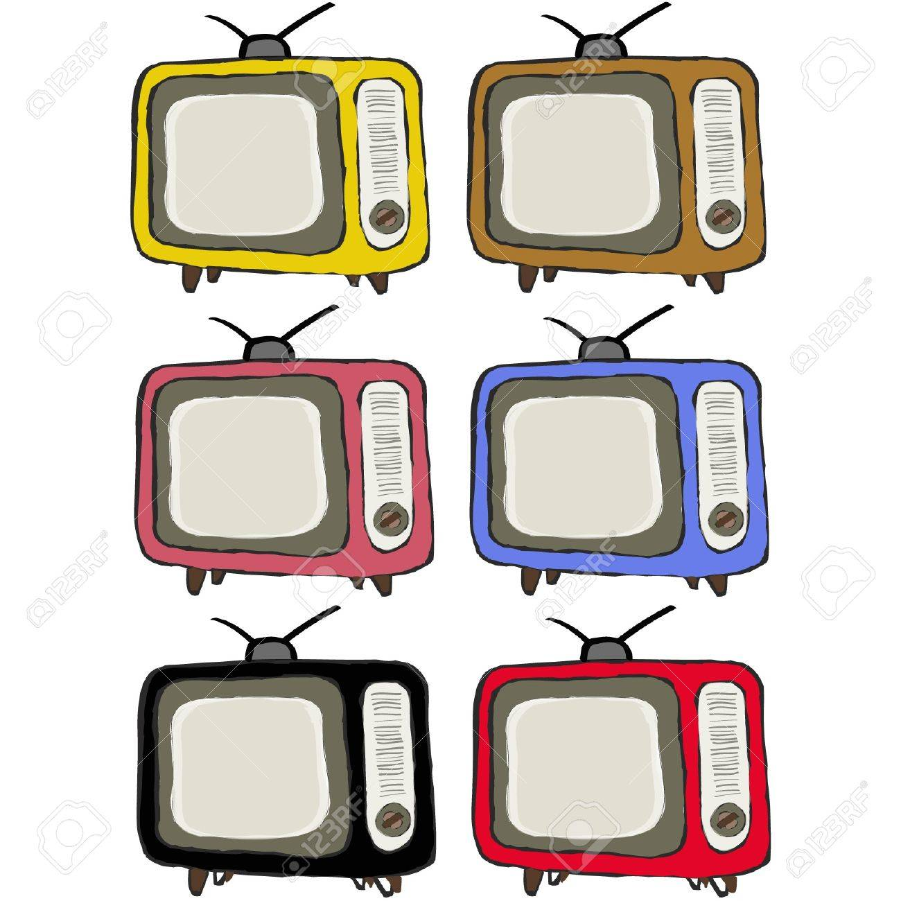 Retro colorful television vintage Stock Vector - 16122050