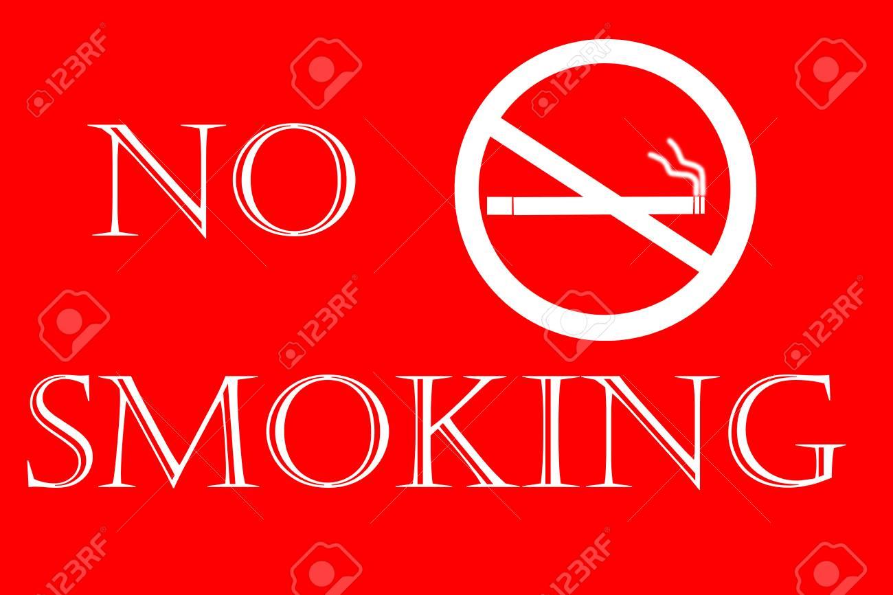 Banque Du0027images   Panneau Du0027interdiction De Fumer Sur Fond Rouge, Le 31 Mai    Journée Mondiale Sans Tabac.
