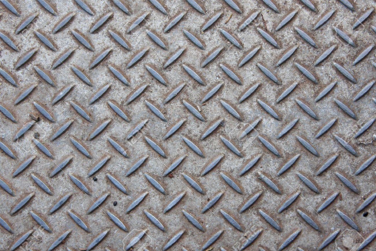 Pressed Metal Plate Outdoor Non Slip Flooring Stock Photo   5330266
