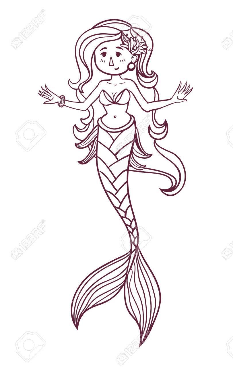 Wunderbar Meerjungfrau Bilder Zu Färben Zeitgenössisch - Beispiel ...