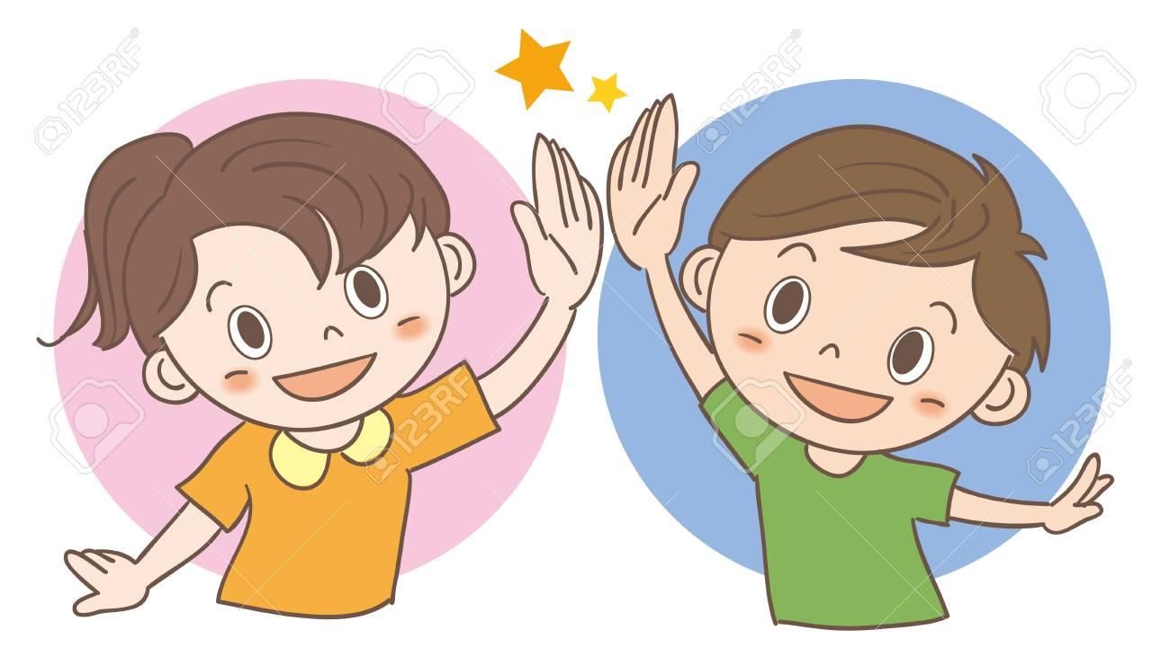 High-five children image - 100531908