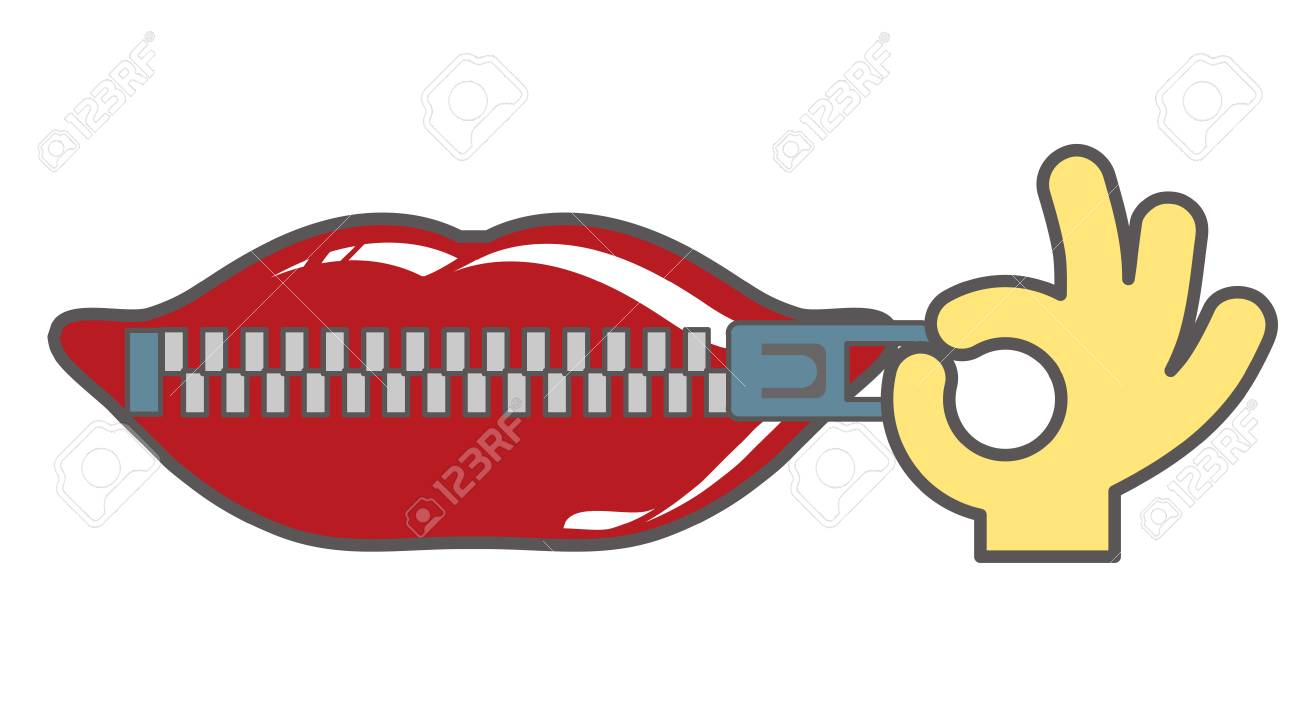 Zip the lip-Logo style - 115794731