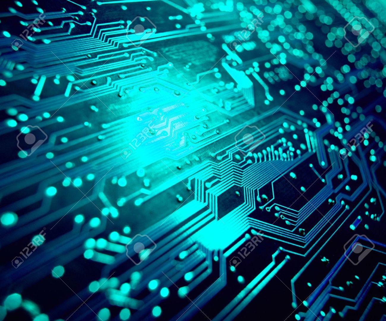 Circuito Electronico : Detalle de la placa de circuito electrónico centrarse en