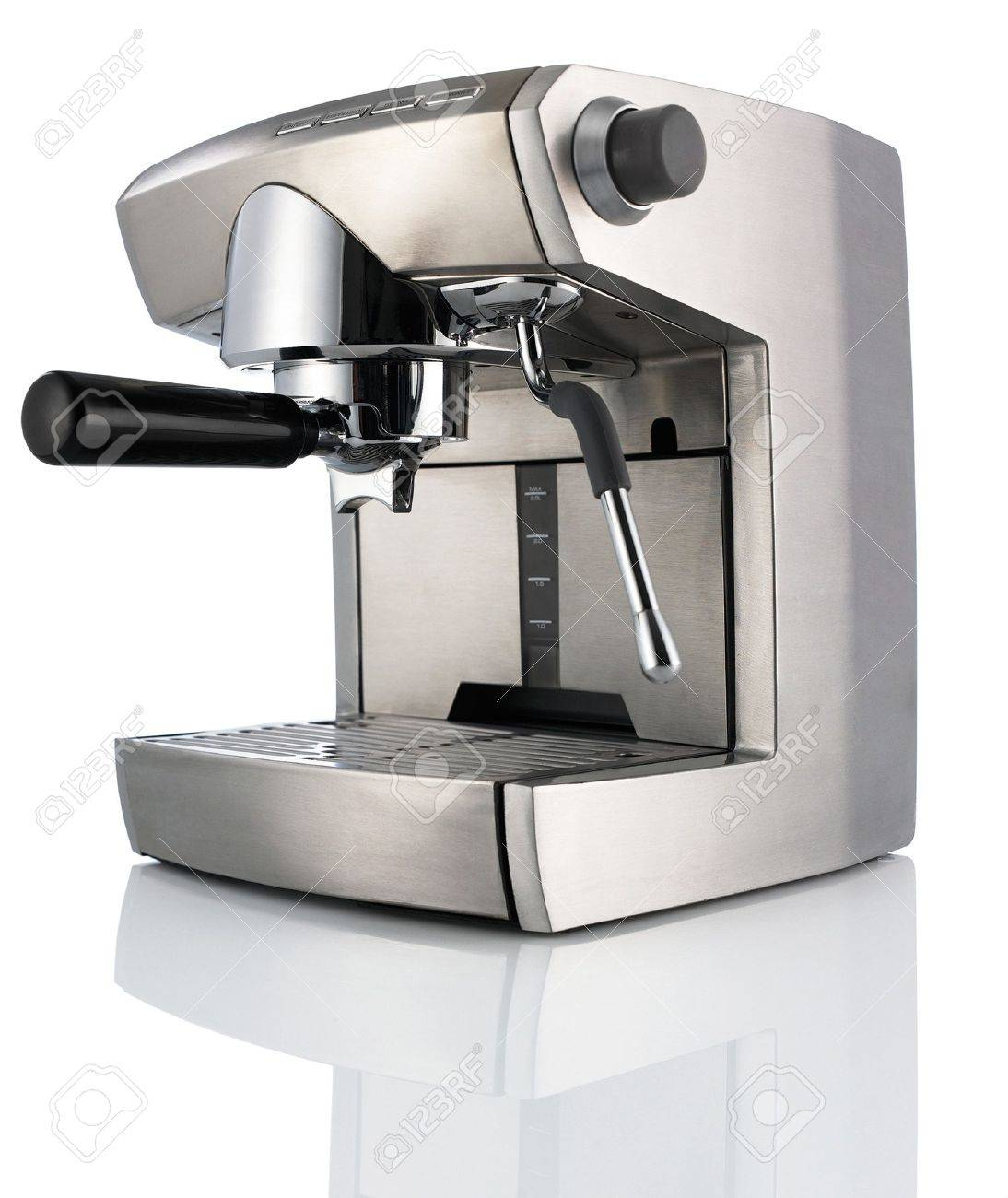 modern coffee machine (maker) isolated on white background stock  - modern coffee machine (maker) isolated on white background stock photo