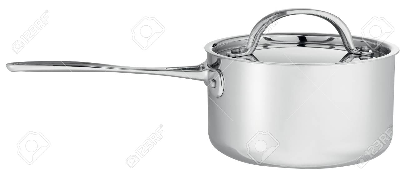 Cooking pot with glass lid isolated on white Stock Photo - 7981707