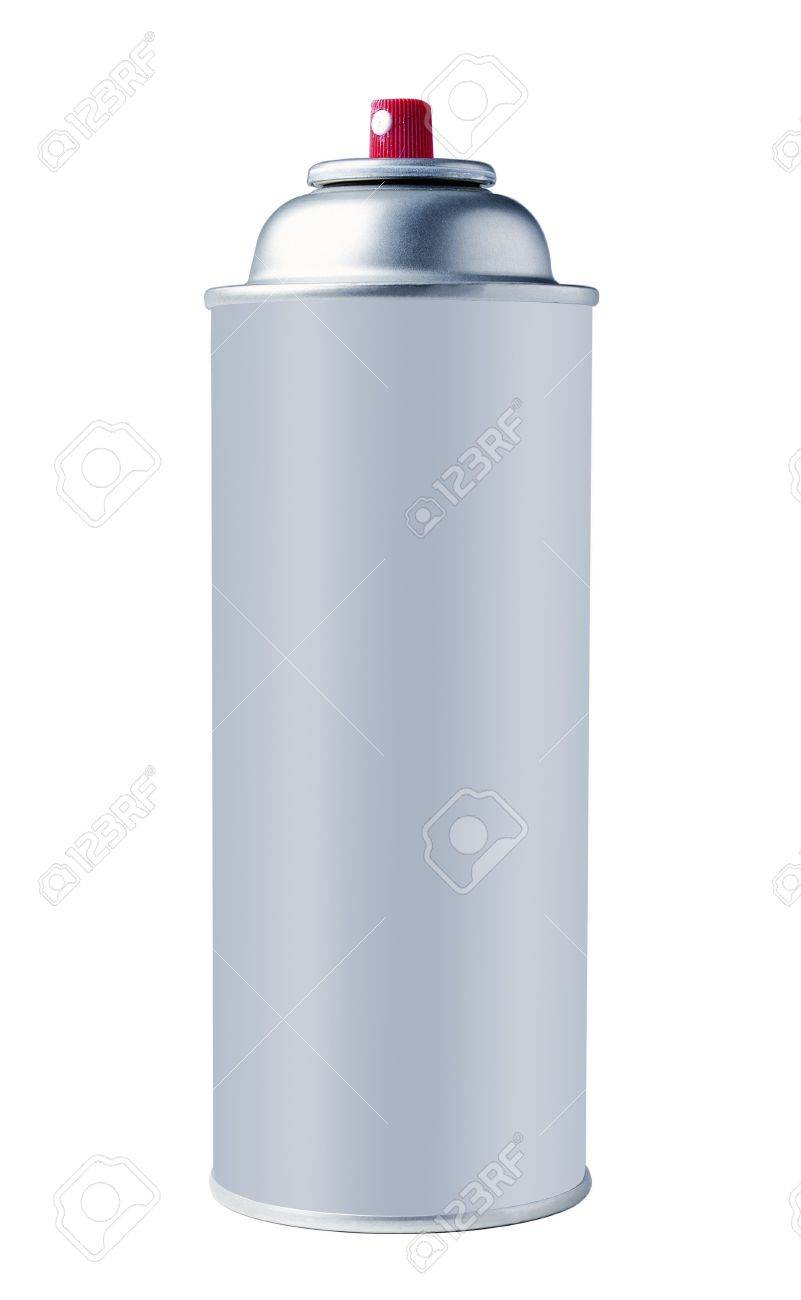 Aluminum spray can isolated on white background Stock Photo - 8581778