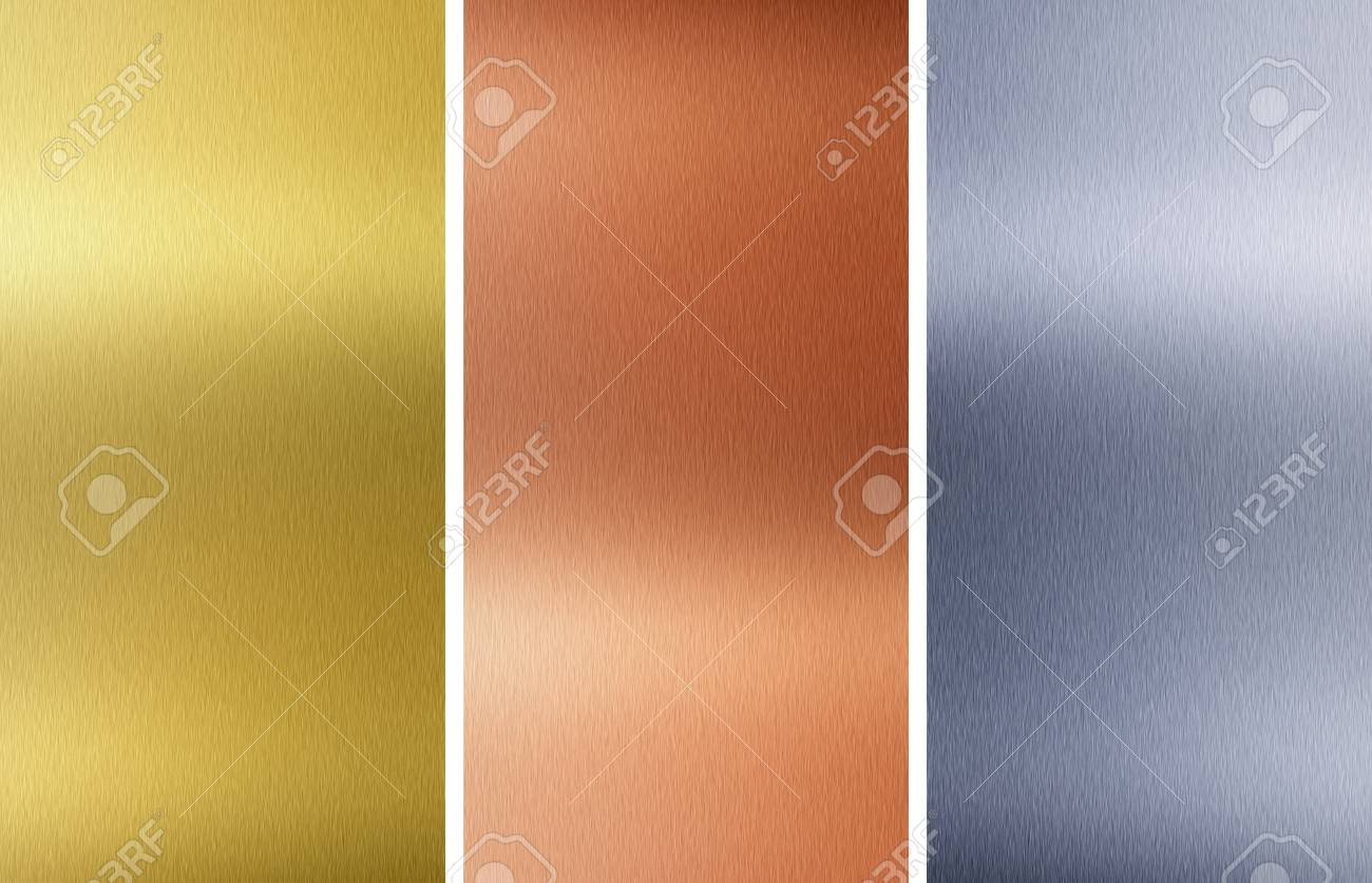 Aluminum, bronze and brass stitched textures Stock Photo - 8582083