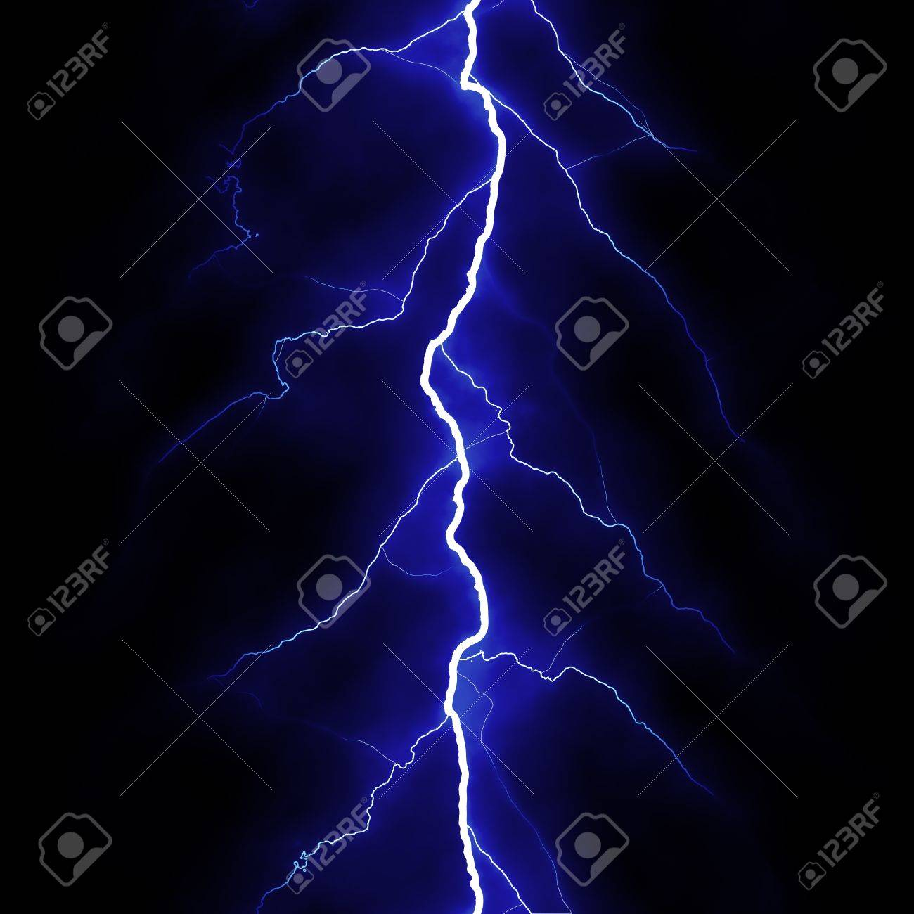 Lightning flash on black background Stock Photo - 9473420