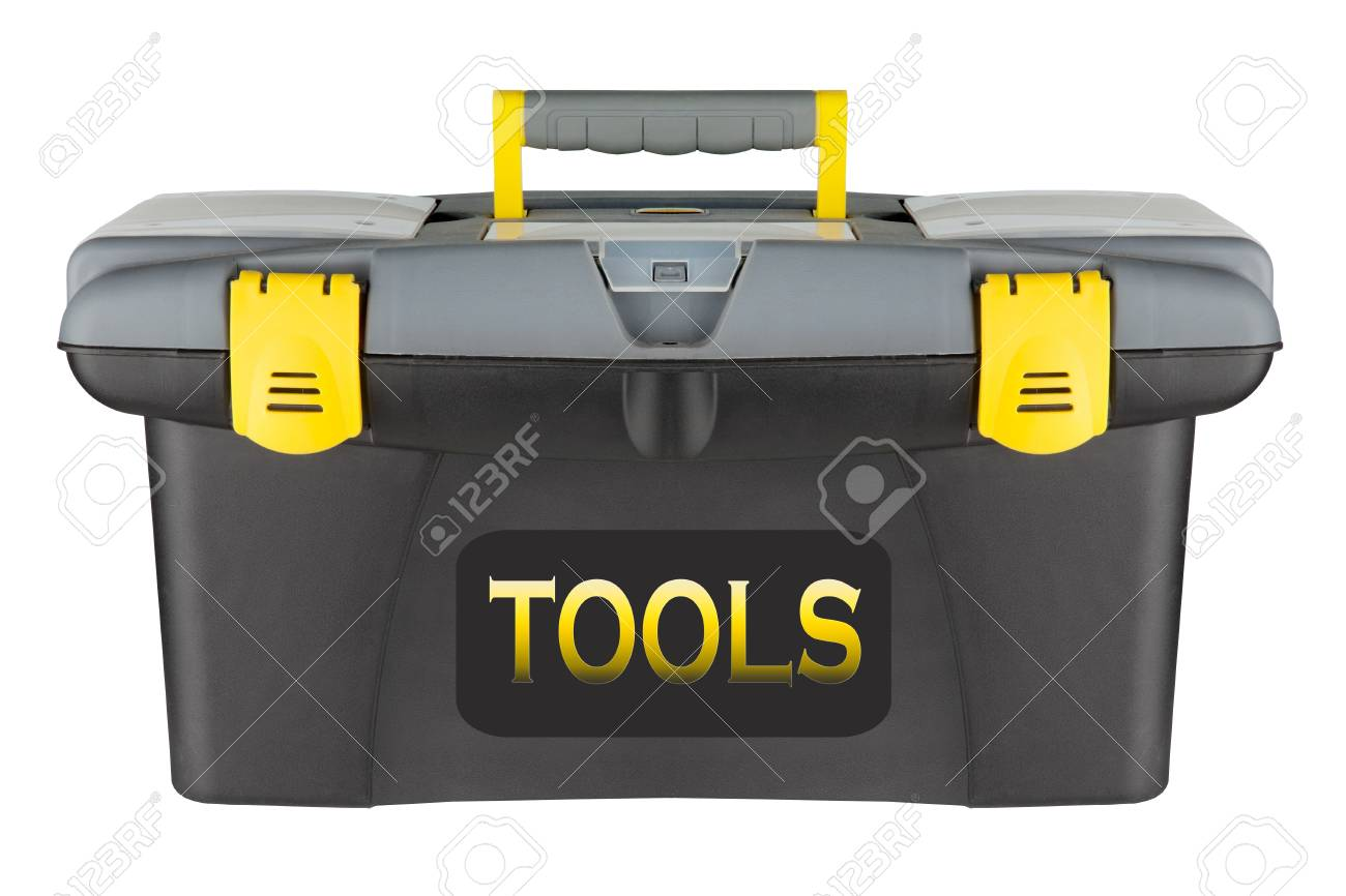 Professional yellow toolbox isolated on a white background Stock Photo - 9473679