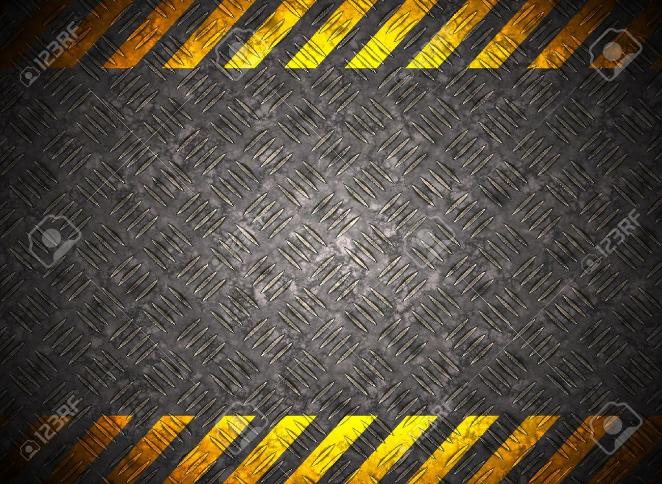 Metal background with caution tape Stock Photo - 10822328