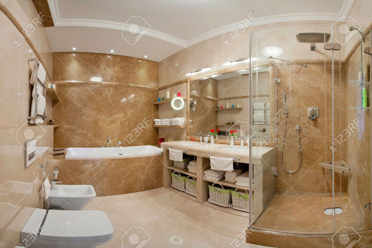 beautiful modern apartment interior Standard-Bild - 10822427
