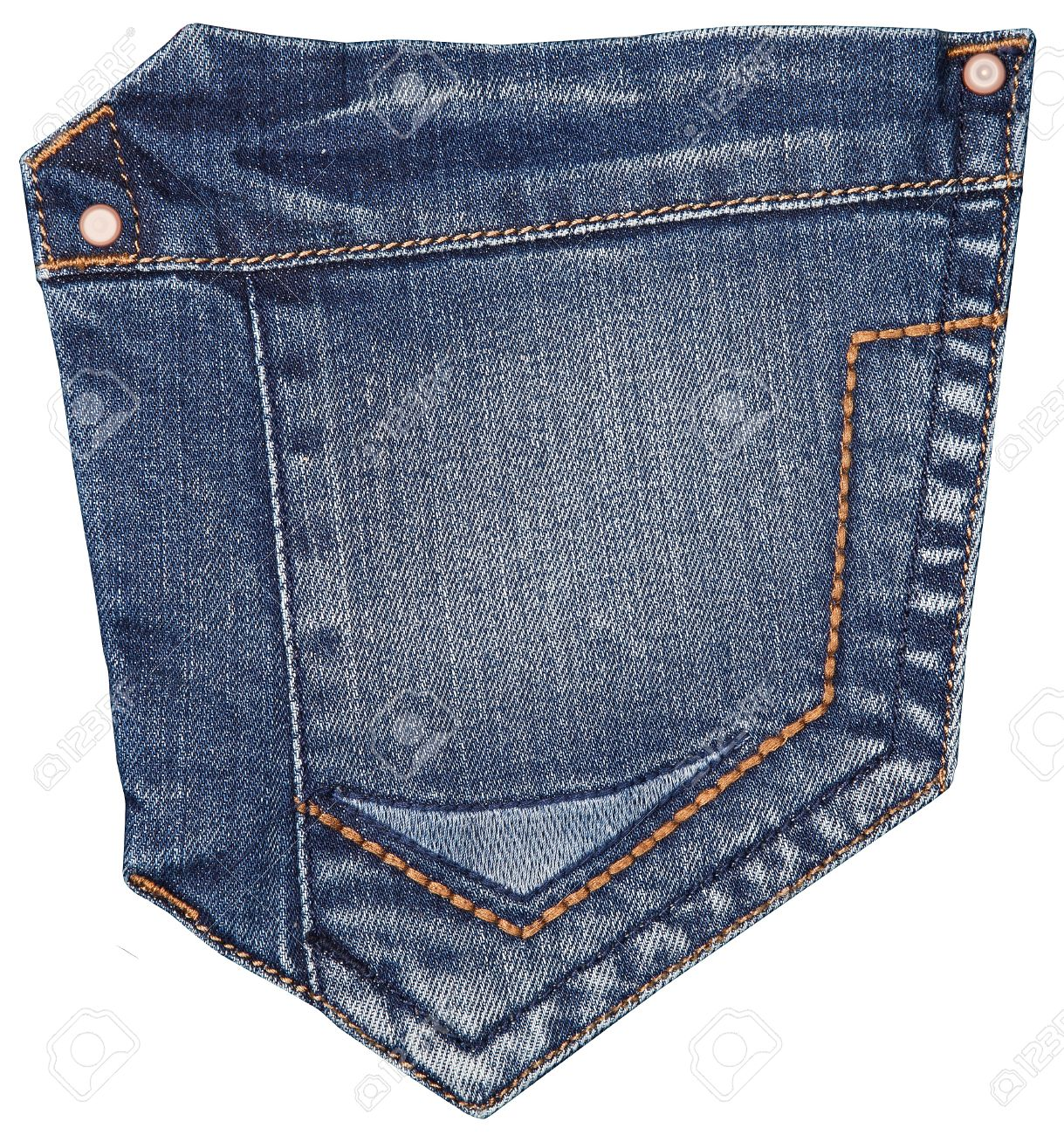 Jeans Pocket Isolated On White Stock Photo Picture And Royalty