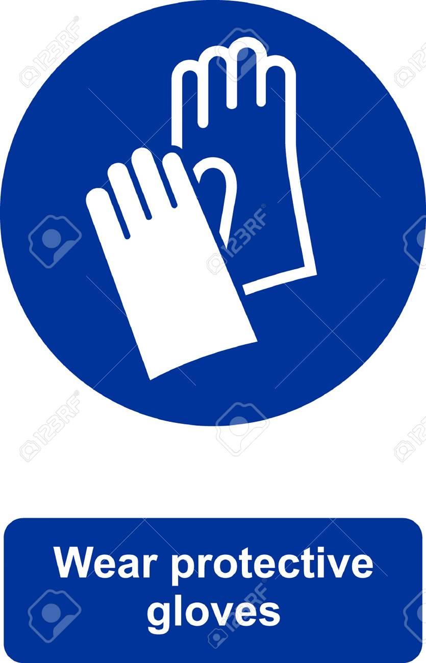Wear Protective Gloves Icon Royalty Free Cliparts Vectors And