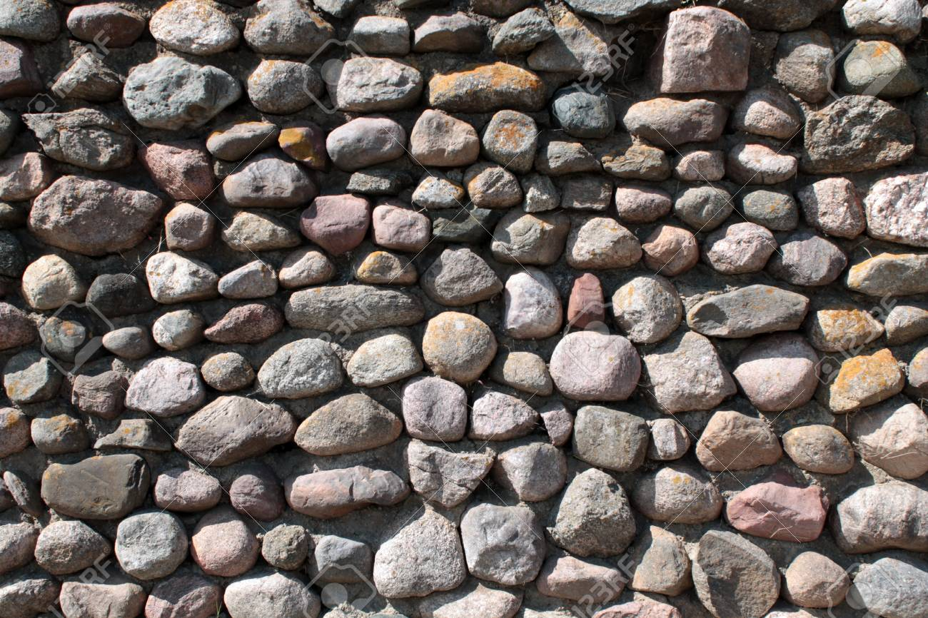Wall of big stones background Stock Photo - 20947396