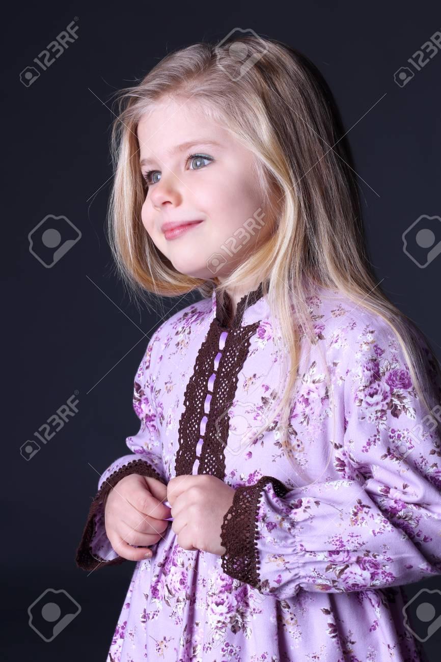 Cute blonde girls in clothes