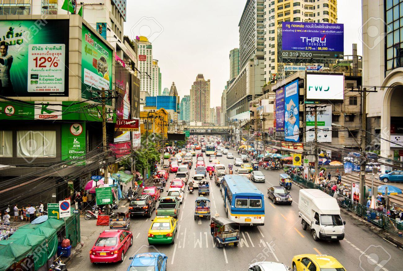 Streets of Bangkok, Thailand - 49261119