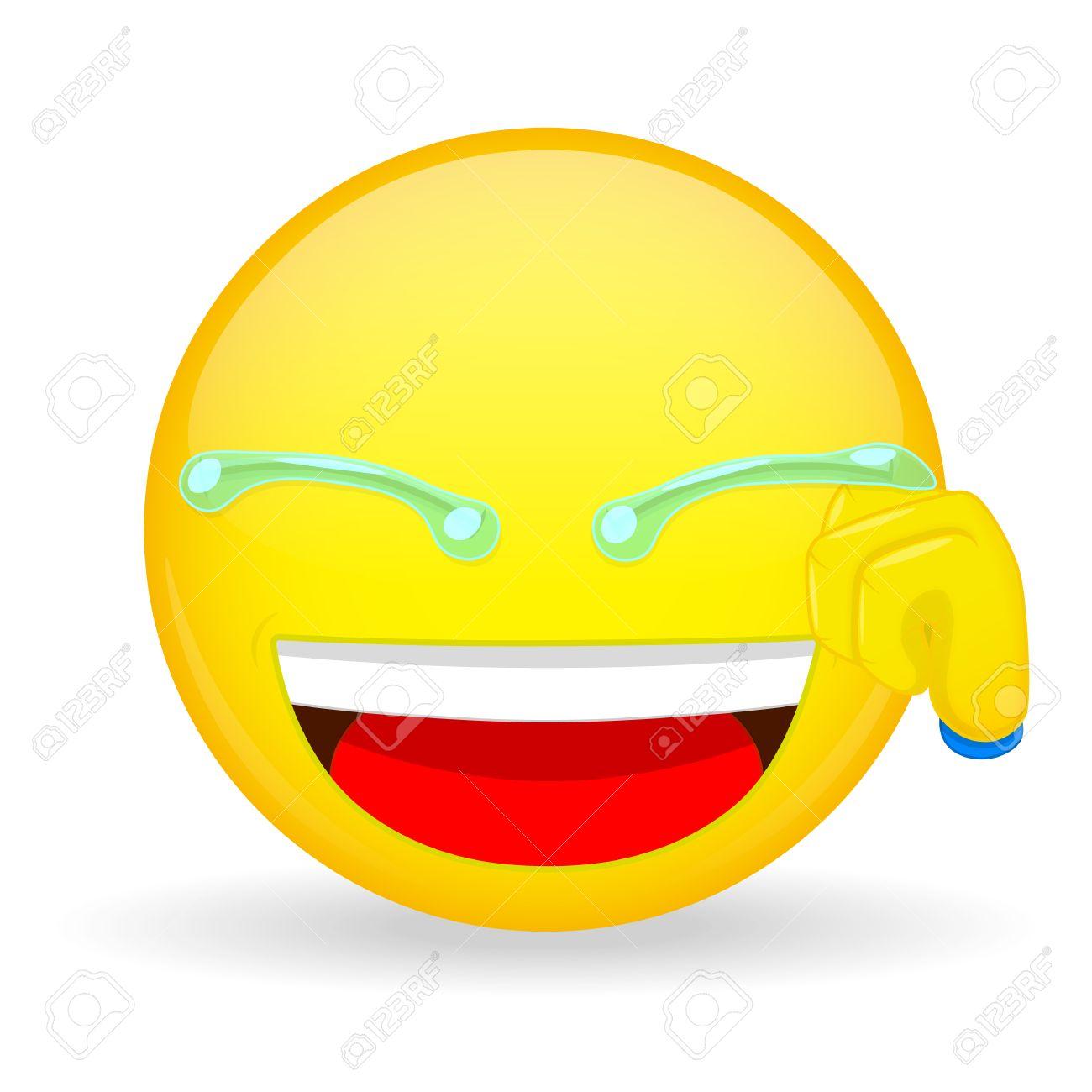 Emoticon Mano Limpia Las Lágrimas Emoticon Risa Emoticon Sonriendo