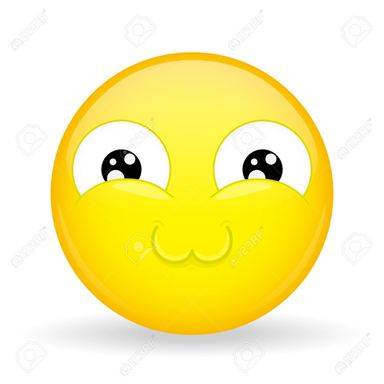 Emoji Très Mignon Faire Fondre L émotion Sweet Emoticon Style De Dessin Animé