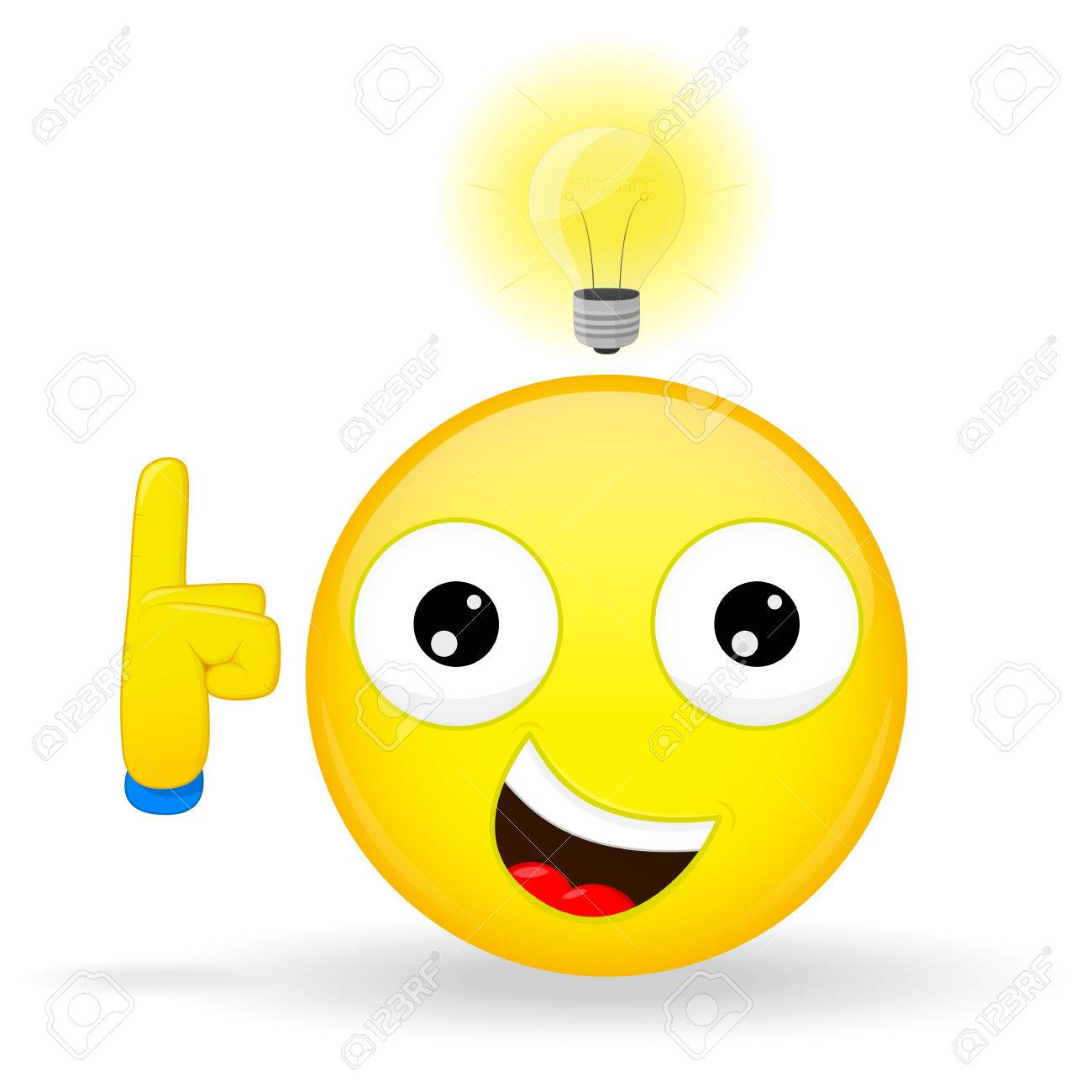 i have an good idea emoji emotion of happiness emoticon with