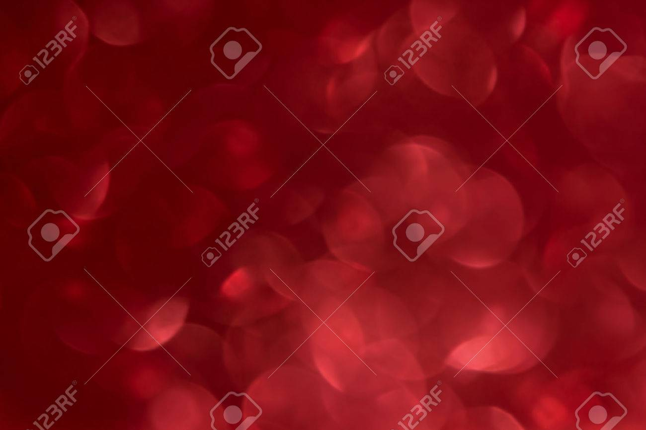 Romantic red bokeh abstract valentine background - 52395019